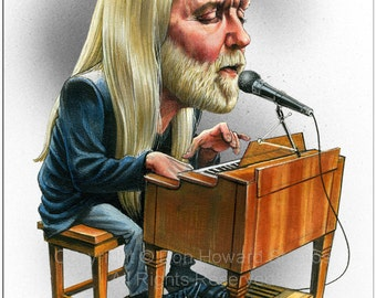 Don Howard's Depiction of Gregg Allman Limited Edition Celebrity Caricature