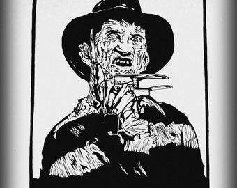 Freddy Krueger Print by Alex Juliette