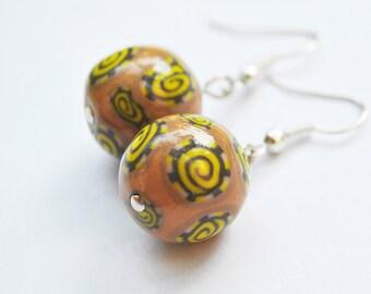 Beige Beadz / earrings