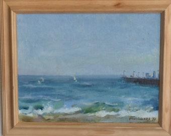 Santa Cruz (original oil painting, impressionist California seascape)