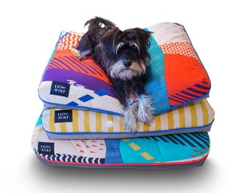 Cloudburst Dog Bed COVER – Tomato | Limited Edition | Removable Pet Bed Cover – Pillow Insert Not Included | Modern Dog Beds @ Lion + Wolf