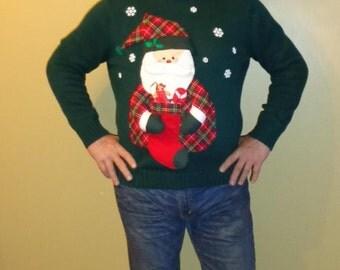 Pattern 1940s Vintage Mens Reindeer Pullover Sweater Pdf