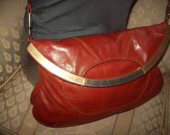 Vintage real leather handbag/clutch