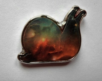 galaxy snail snails hat pin universe electric forest