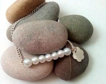 Flower Girl Bracelet, Bridesmaid Jewelry, Bridesmaid Gifts, Bridesmaid Bracelet, Thank You Gift, Pearl Bracelet, Wedding Jewelry