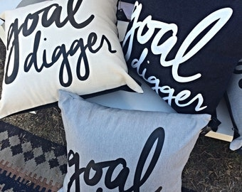 Goal Digger Pillow Cover