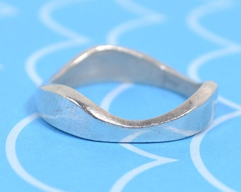 Vintage, Sterling Silver, Modernist, Asymmetric, Statement Ring