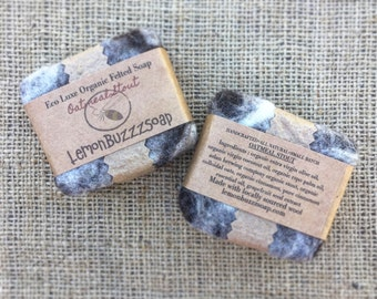 Oatmeal Stout Organic Felted Beer Soap+Beer Soap+Seed Paper+Artisanal Soap+Exfoliating+Organic Soap+Beer Lover+Gift For Her+Gift For Him