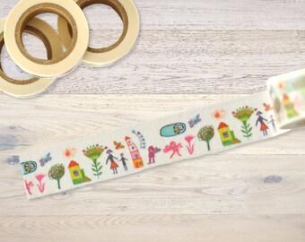 Masking Tape with kids drawing Washi Tape
