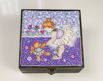 Fairy Box,Treasure Box,Keepsake Box,Keepsakes,Fairy Treasures,Fairy Parties,Fairy Party,Jewelry Box,Fairy Gifts,Ballerinas,Sewing Box