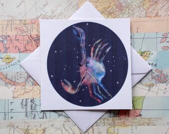 Cancer - Greetings Card - Birthday - Zodiac - Constellation