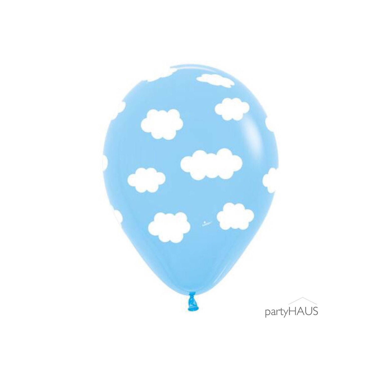 Cloud balloons new 11 cloud latex balloons blue with for Balloon cloud decoration