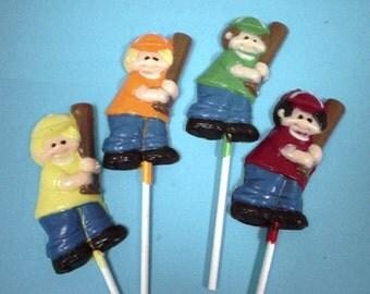 Baseball Boy or Girl 12 chocolates lollipops