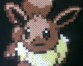 Pokemon cute Eevee peler bead pixel art sprite