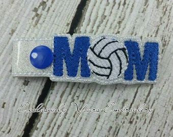 Volleyball Mom Keychain - Spiritwear - Sportsmom - Bag Tag - Small Gift - Gift for Her - Thank You Gift - Team Gift - Team Mom - Sports