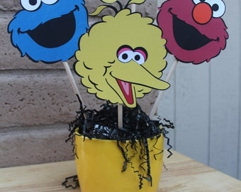 Sesame Street Centerpiece/Elmo/Cookie Monster/Big Bird