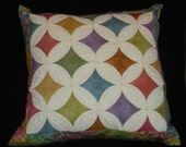 Catherdral Window Pillow with Tye Dye Look Batiks HAFAIR