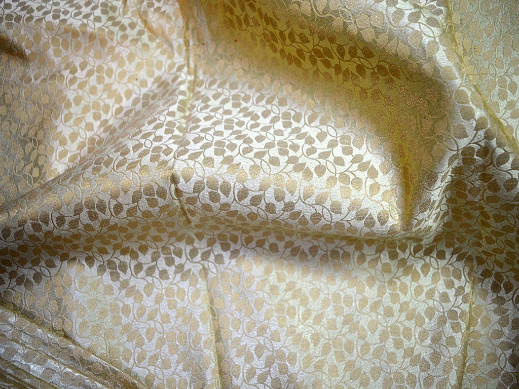 Jacquard Fabric Brocade Fabric Cream Gold Brocade Art