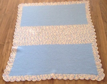 Handmade Crocheted Baby, Crib Blanket