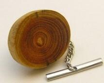 Reclaimed Honey Locust Wood Tie Tack Eco Friendly Jewelry Tree Branch Jewelry Men's Wood Jewelry Wooden Tie Clip Men's Gift Idea