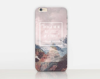 Shakespeare Quote Phone Case - iPhone 8, 8 Plus, X, iPhone 7 Plus, 7,  SE, 5, 6S Plus, 6S, 6 Plus, Samsung S8, S8 Plus, S7, S7 Edge