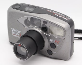 Vivitar 480PZ Series 1 Power Zoom 35mm Compact Camera with case – VGC/Tested – Lomo / Lomography
