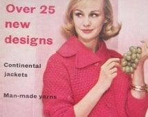 Vintage Vogue Knitting Book' Vogue Knitting Magazine No. 56, Spring Summer 1960 Knitting Patterns, Original Pattern