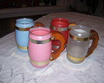 Siesta Ware Frosted Mugs Set of 4 16oz Vintage