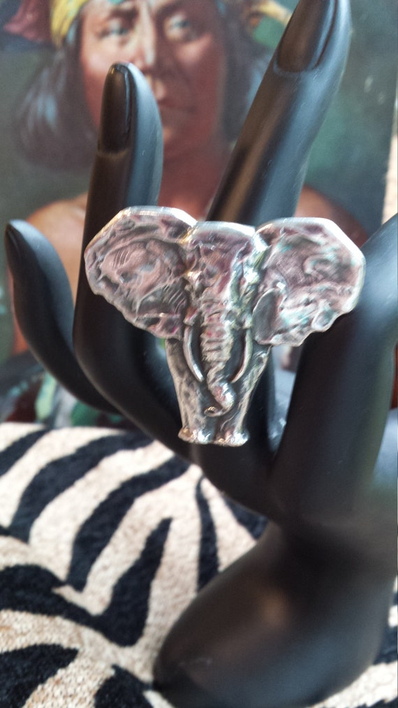 James Avery sterling silver elephant ring