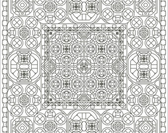 Gee Whiz Three Back Stitch Blackwork-Style Pattern, Instant Download Cross Stitch Pattern, Choose Your Colors