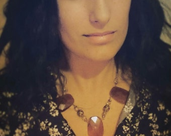 Holiday Dinner Carnelian Statement Necklace