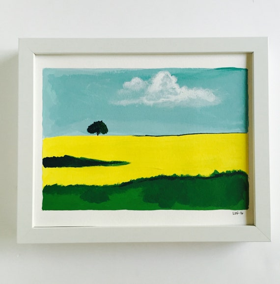 Original painting acrylic painting cloud painting landscape for Acrylic painting on paper tips