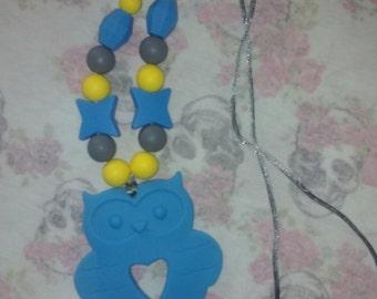 owl teething necklace nursing necklace