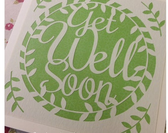 Get Well Soon Paper Cutting Template - Commercial Use