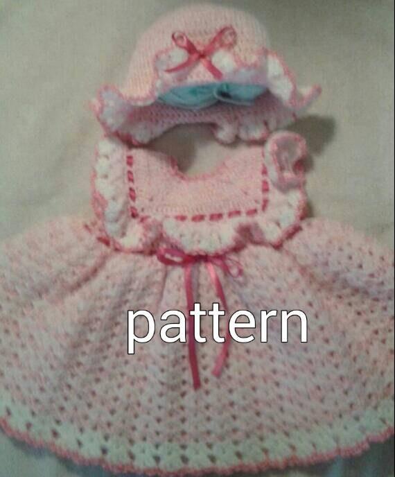 Crochet Baby Dress Pattern 2. Baby Hat Pattern by ...