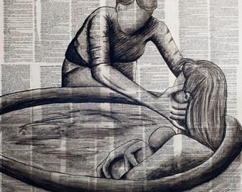Loving Support - Fine Art Print by Chrissie Brown Art