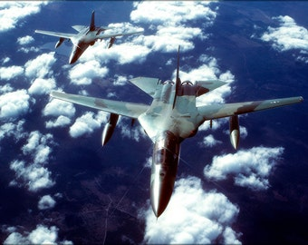 24x36 Poster . F-111 Aardvark In Formation 1983