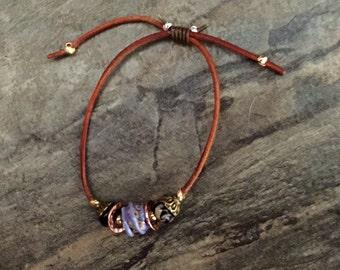 lampwork beaded bracelet