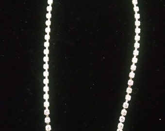Austrian Crystal Silver Necklace