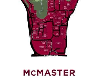 McMaster University Map Print