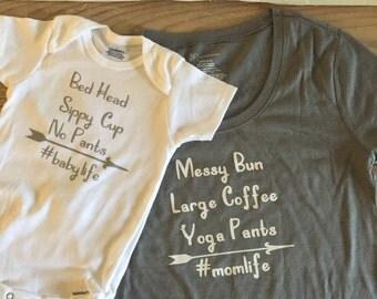 Matching Mama And Baby Shirts. #momlife #babylife