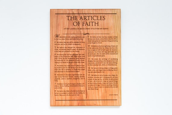 Articles Of Faith 14x20 Lds Home Decor Mormon Art From
