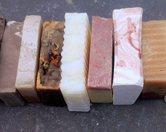 Assorted Soap Box - 5 bars of soap - vegan soaps - all natural soaps - assorted soaps - herbal soaps - mix and match soaps