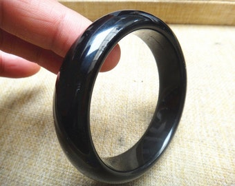 60mm Natural obsidian bracelet