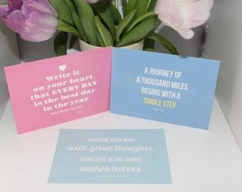 Inspiring Quote Postcards - Set of 6