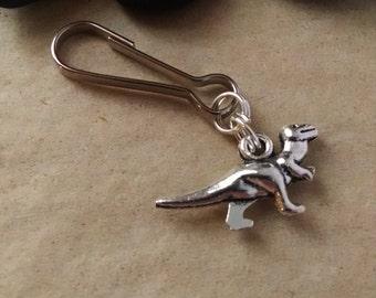 Dinosaur Zipper Pull, TRex Keychain, Tyrannosaurus Key Chain, Gift for Him, Women, Men, Boy, Girl, Stocking Stuffer, Science, Archaeology