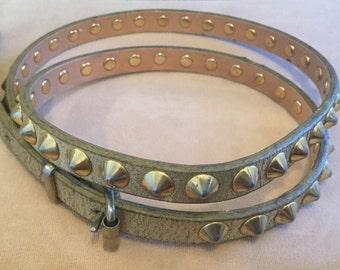 80s Gold studded pyramid belt S/M