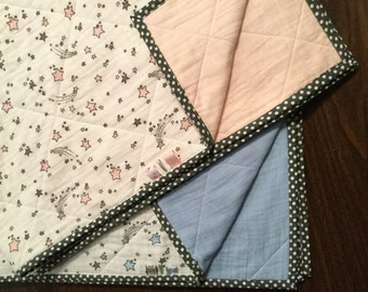 Quilted Double Gauze Shooting Star Baby Blanket