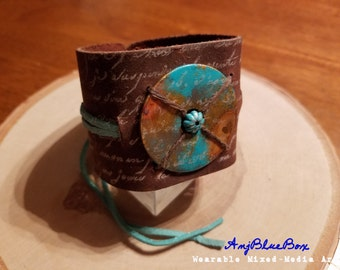 Oasis-Mixed-Media Art Cuff