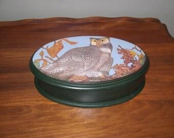 ceramic owl box